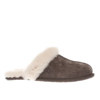 Ugg Australia Dark Brown Scuffette Ii Slippers