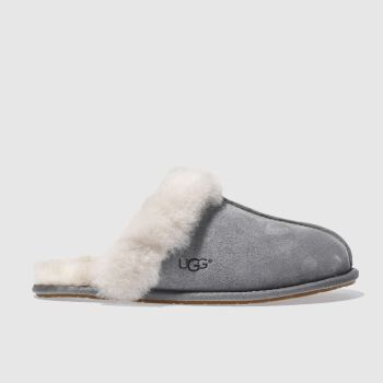 Womens Ugg Australia Dark Grey Scuffette Slippers