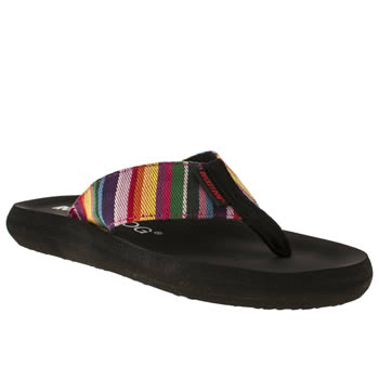 womens rocket dog multi sunset stripe sandals