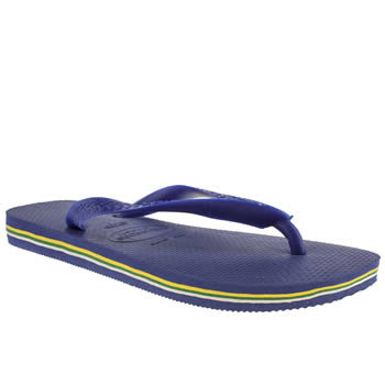 Womens Havaianas Blue Brasil Sandals