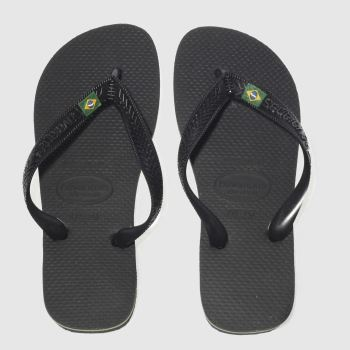 Womens Havaianas Black Brasil Sandals