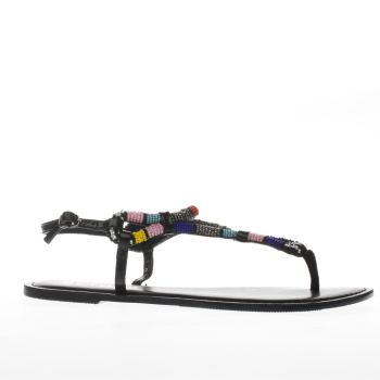 Schuh Black & Blue Hollywood Sandals
