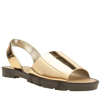 Womens Schuh Gold Pop Sandals