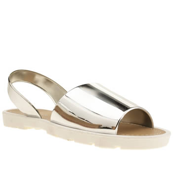 Womens Schuh Silver Pop Sandals