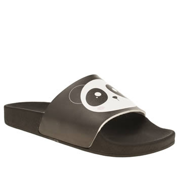 Womens Schuh White & Black Dream Boat Sandals