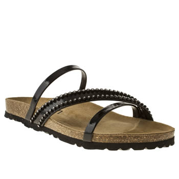 Womens Schuh Black Breeze Diamante Sandals
