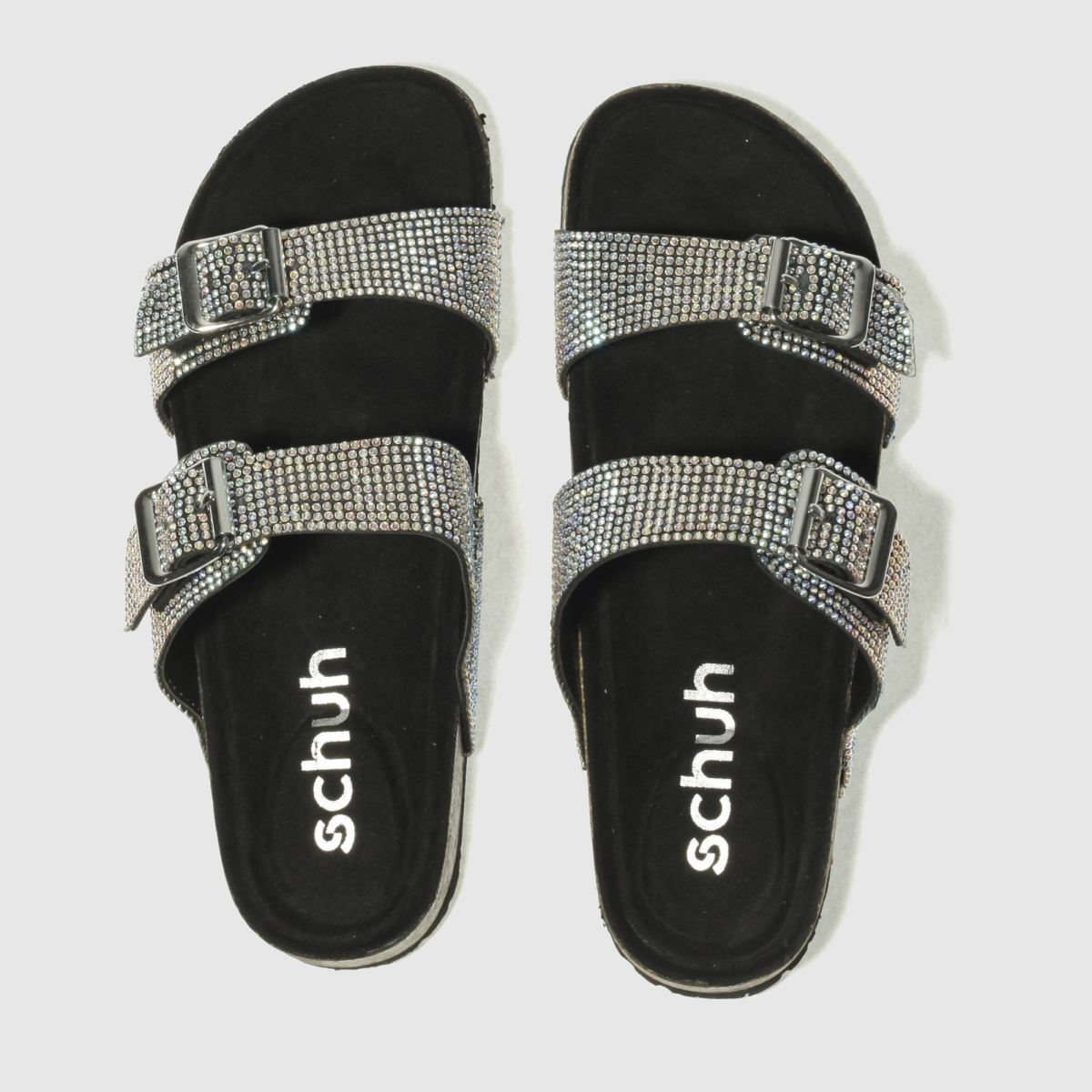 Schuh Black & Silver Sunny Day Sandals