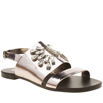 Womens Schuh Pewter Underwater Sandals