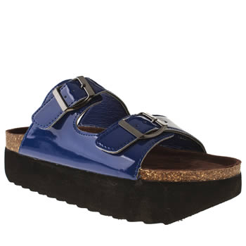 womens schuh blue bad reputation sandals