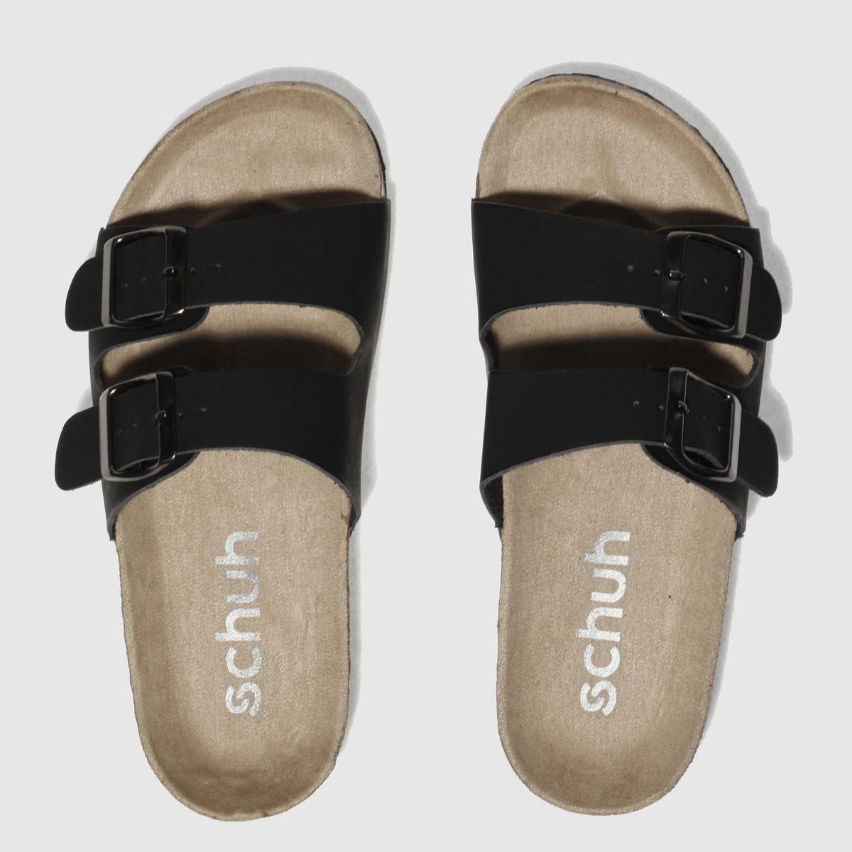 schuh black hawaii sandals