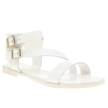 Womens Schuh White Vacation Sandals