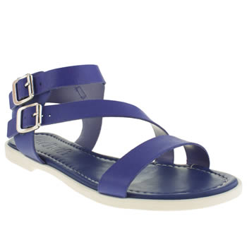 Womens Schuh Blue Vacation Sandals