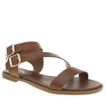 Womens Schuh Tan Vacation Sandals