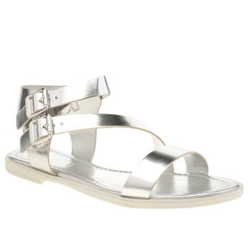 Womens Schuh Silver Vacation Sandals