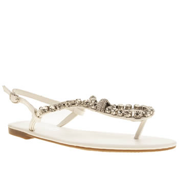 Womens Schuh White Starry Eyed Sandals