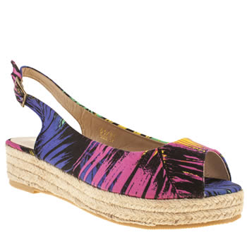 Schuh Black and blue Day Trip Sandals