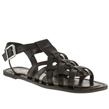 Schuh Black Staycation Sandals