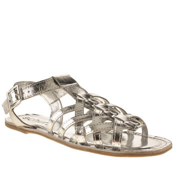 Womens Schuh Silver Staycation Sandals