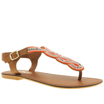 Schuh Tan Luster Sandals