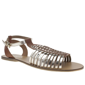Womens Schuh Gold Scoop Sandals