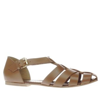 SCHUH TAN SUGAR LUMP SANDALS