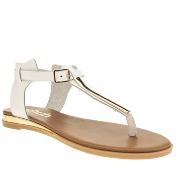Womens Schuh White Cassidy Sandals