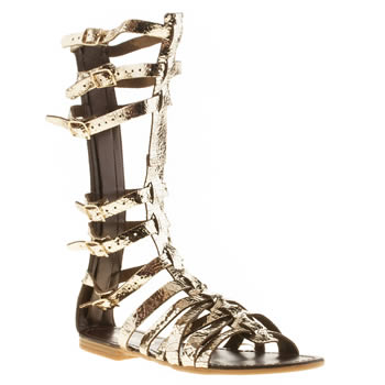 Womens Schuh Gold Maximus Sandals