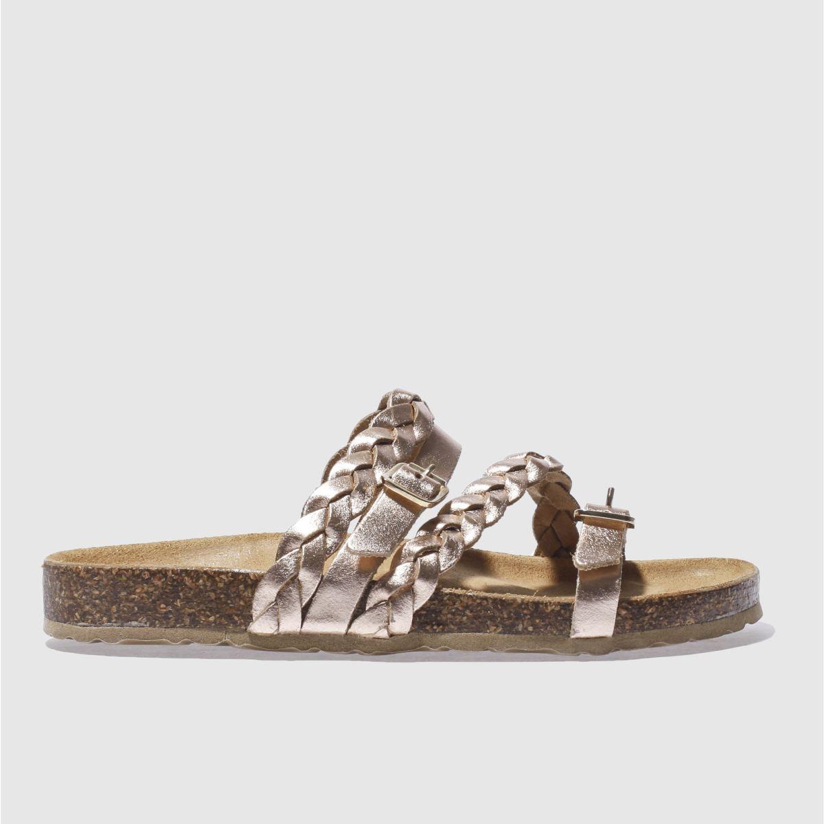 schuh rose gold zodiac sandals