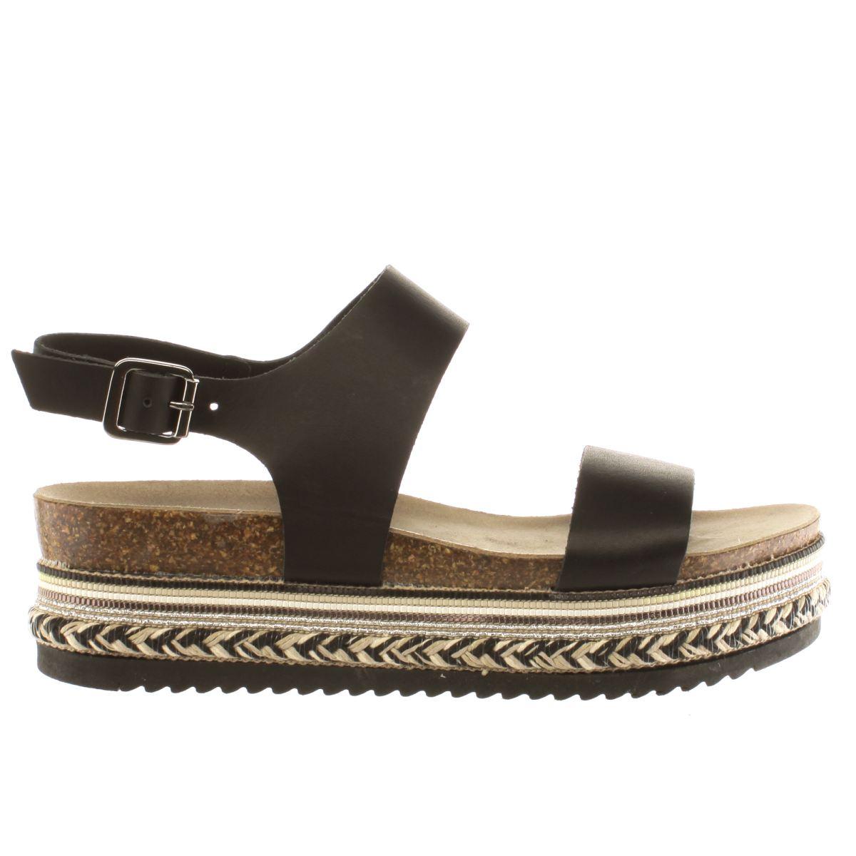 schuh black miami sandals