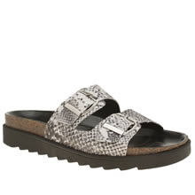Schuh Black & White Break Free Womens Sandals