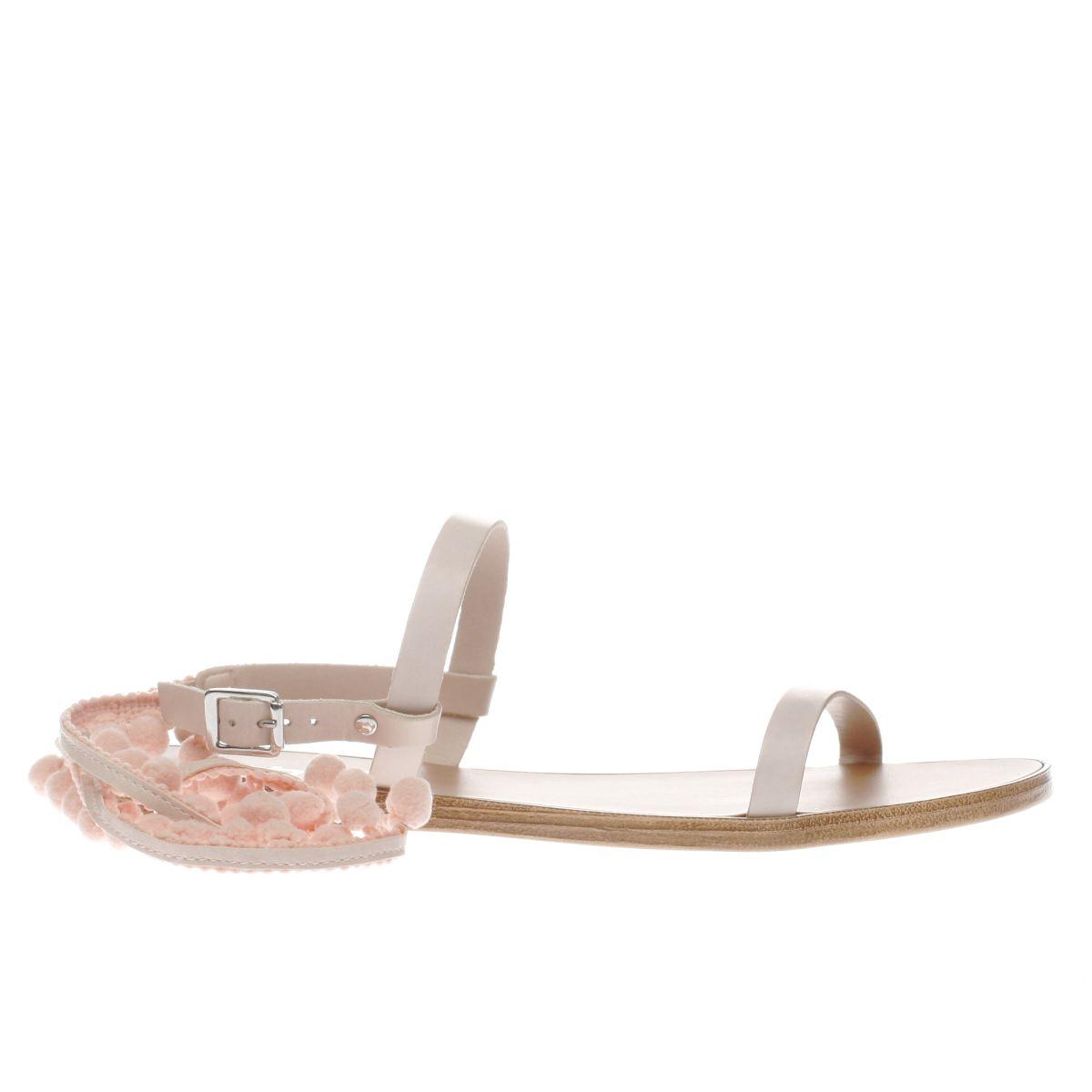 schuh pale pink st tropez sandals