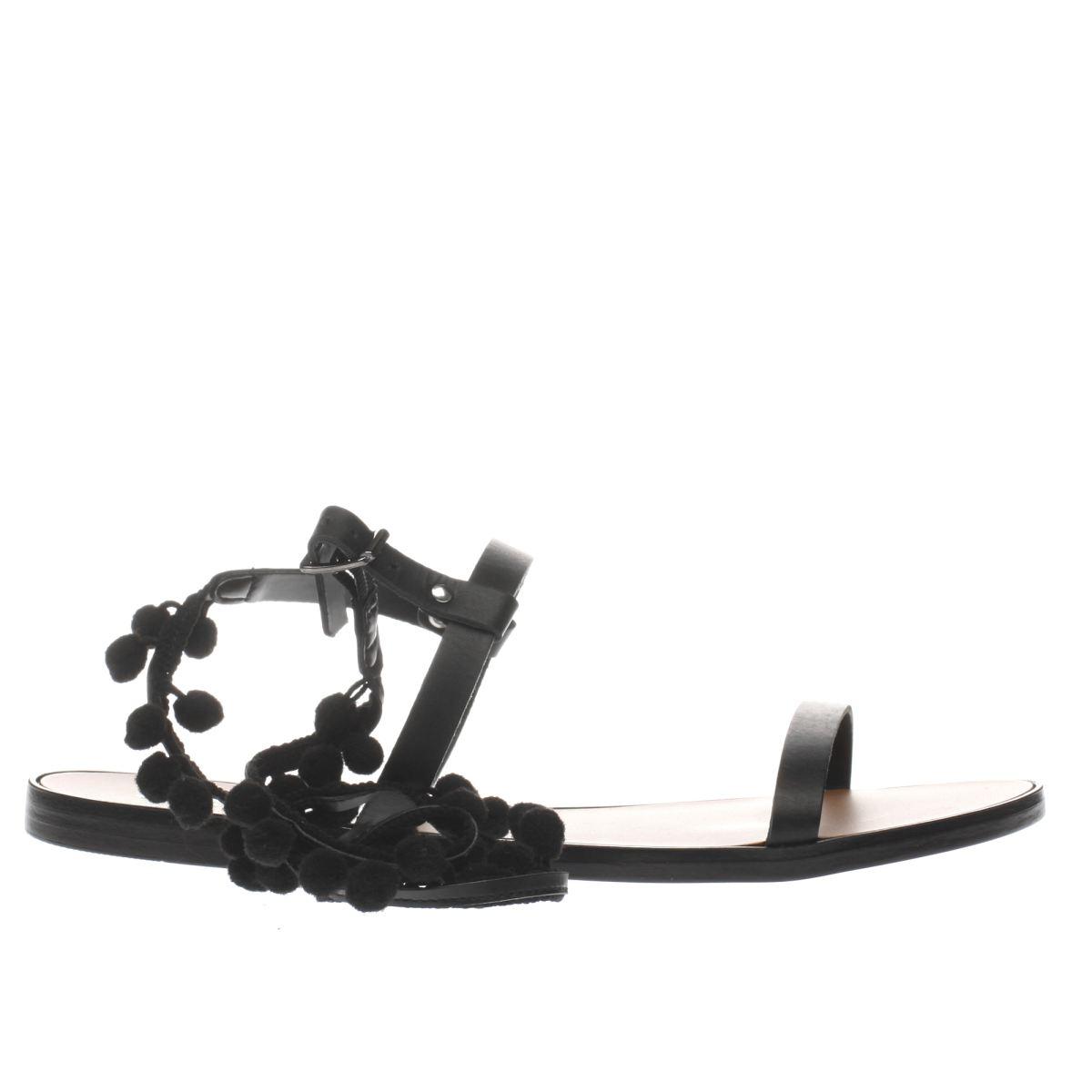 schuh black st tropez sandals