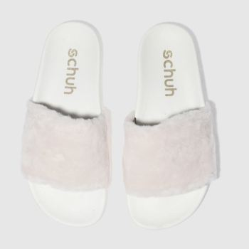 Schuh Pale Pink Fuzzy Womens Sandals