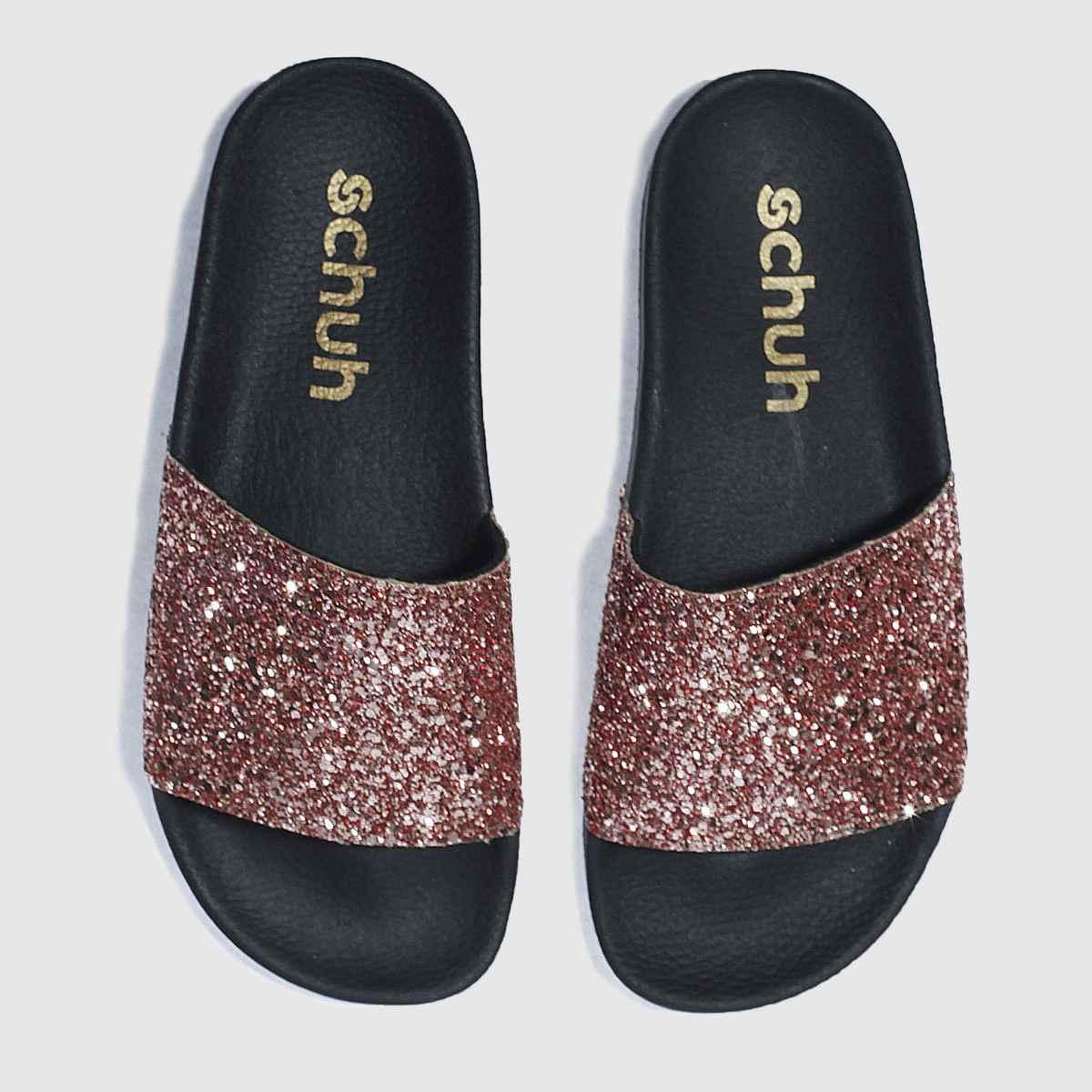 schuh Schuh Bronze Proper Boss Slider Sandals