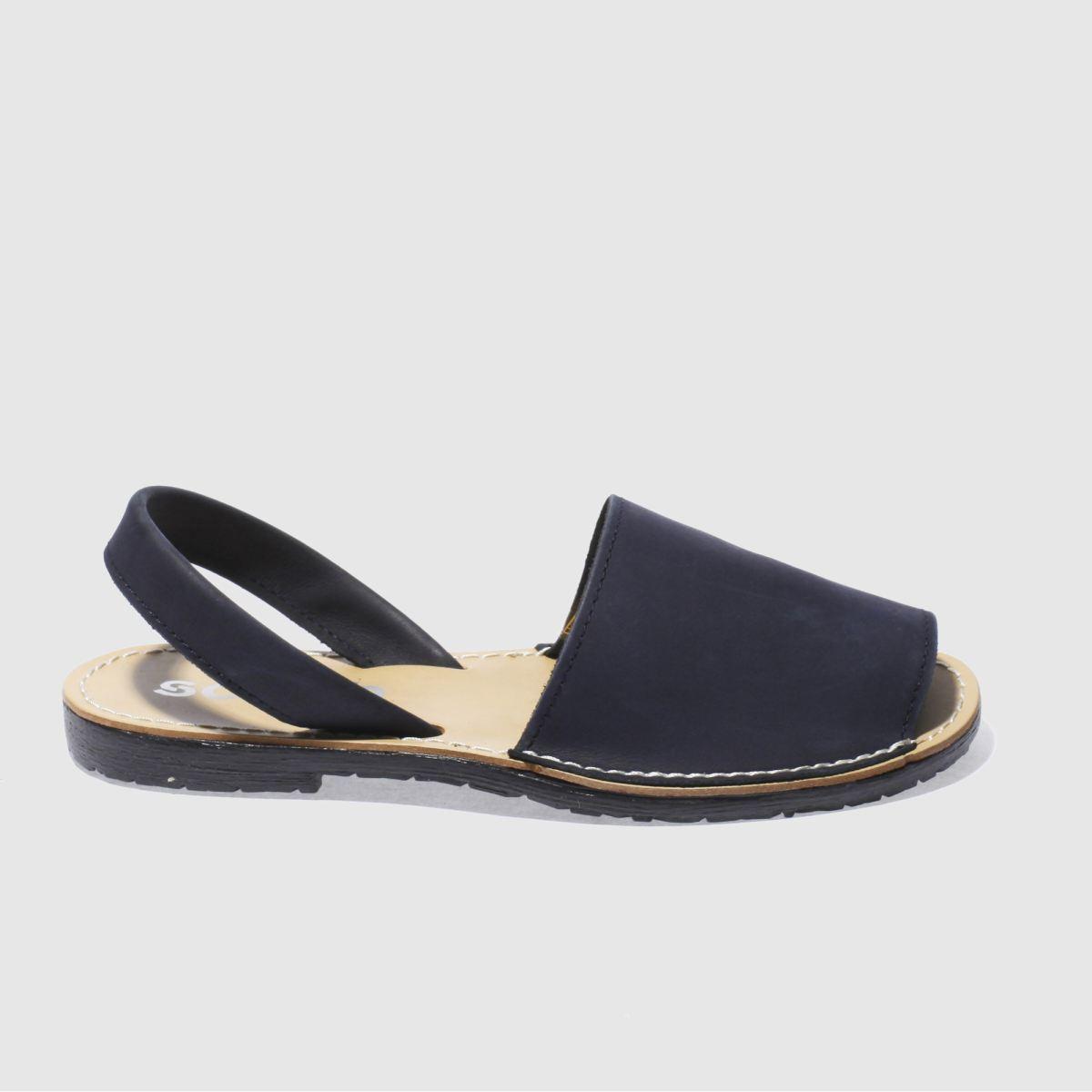 schuh navy barcelona sandals