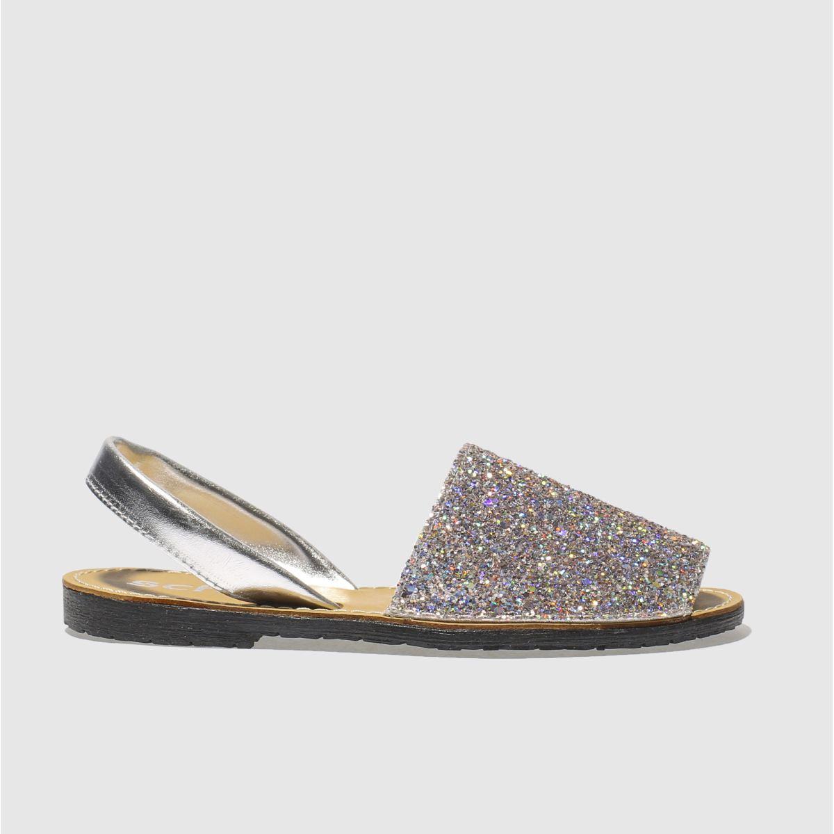 schuh silver barcelona glitter sandals