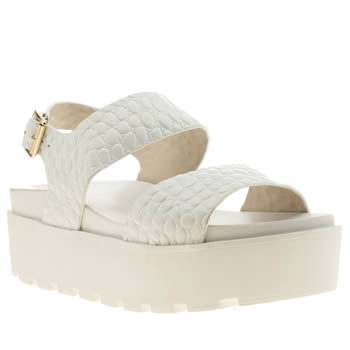 womens schuh white lifes a beach sandals