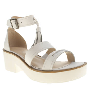 Womens Schuh White Anonymous Sandals