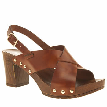 Schuh Tan Dancer Sandals