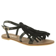Schuh Black Giddy Womens Sandals