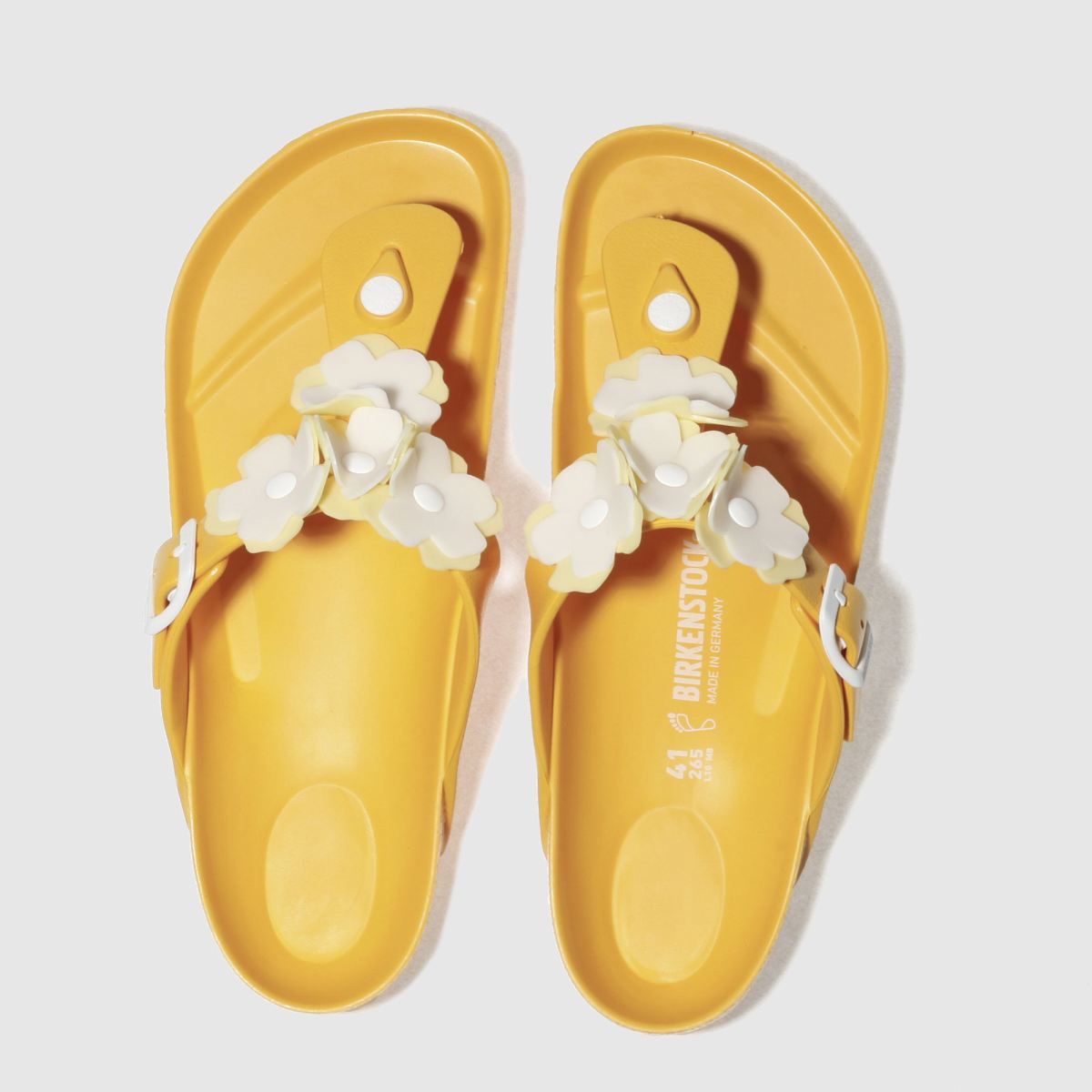 Birkenstock Yellow Gizeh Flower Eva Sandals
