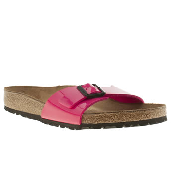 Womens Birkenstock Pink Madrid Patent Sandals