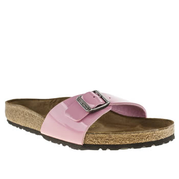 womens birkenstock pale pink madrid iv sandals