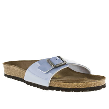 womens birkenstock pale blue madrid iv sandals