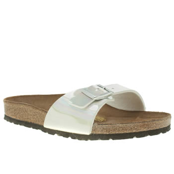 Birkenstock Silver Madrid Mirror Sandals