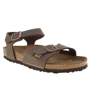 Womens Birkenstock Brown Rio Sandals
