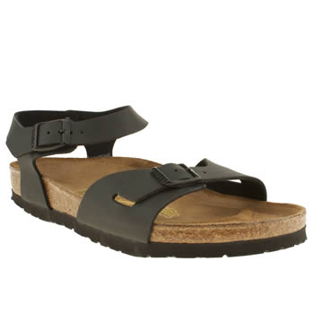 womens birkenstock black rio sandals