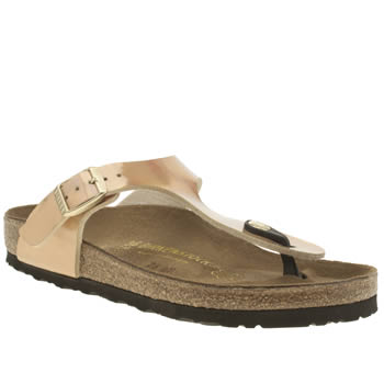 Birkenstock Gold Gizeh Mirror Sandals