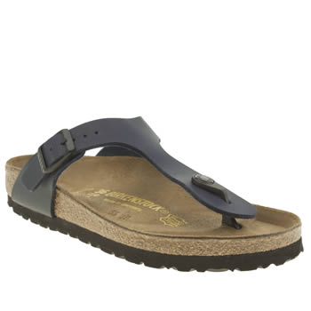 Birkenstock Navy Gizeh Womens Sandals