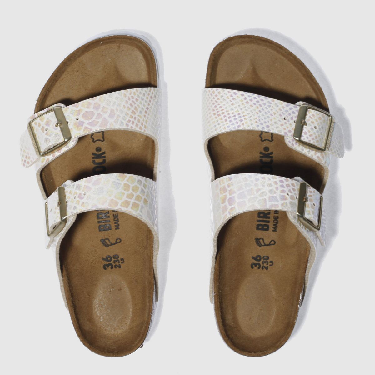 Birkenstock Stone Arizona Shiny Snake Sandals